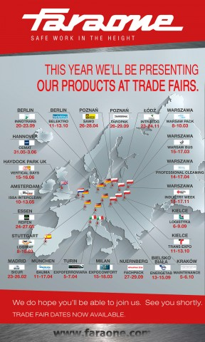 LL BE PRESENTING OUR PRODUCTS AT TRADE FAIRS
