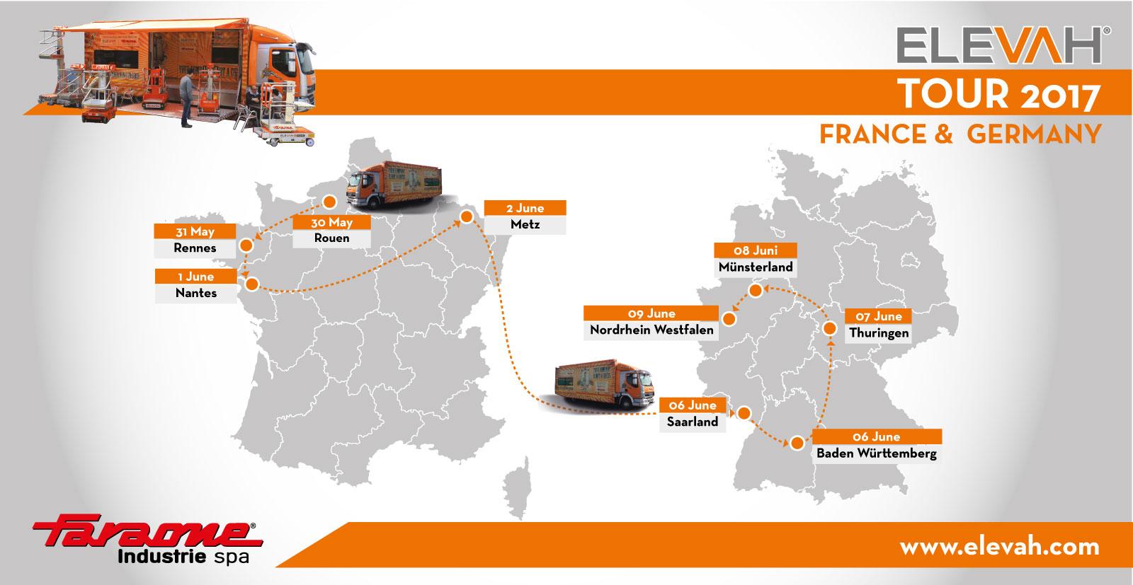 Elevah tour 2017 Francia e Germania